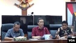 Sekjen Kemendagri, Yuswandi A Temenggung di Kantor Kemendagari, Jakarta, 16 Juni 2016 (Foto: VOA/Andylala).