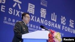 2015年10月17日,中國中央軍委副主席范長龍在北京舉行的第六屆香山論壇上發表講話。