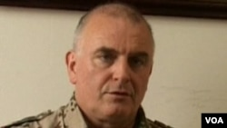 Jurubicara NATO, Brigadir Jenderal Carsten Jacobson mengumumkan penarikan penasihat NATO dari Kementerian Afghanistan.