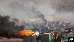 Serangan Taliban terhadap fasilitas penyimpanan minyak di pinggiran Kabul, Afghanistan (5/7).