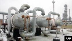 乌克兰波尔塔瓦市附近一座天然气生产运输站的全貌,该天然气田位于乌克兰首都基辅东约330千米处(资料照)