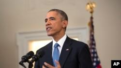 Predsednik Obama iz Bele kuće saopštava promene američke politike prema Kubi, 17. decembra 2014.