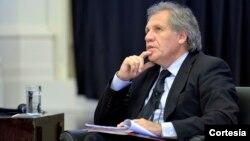 Almagro habló con representantes de la sociedad civil de las Américas sobre sus propuestas de campaña.