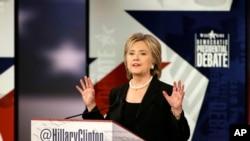Demokrat namizəd Hillari Klinton