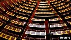 Yunan parlamentosunda boş sandalyeler