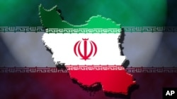Iran map with Iranian flag overlay