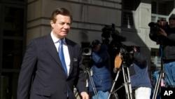 川普總統的前競選團隊主管馬納福特星期三在首都華盛頓的聯邦法庭再次出庭,對特別檢察官穆勒針對他提出的一系列指控做出無罪抗辯。