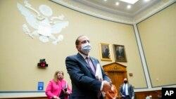 Bộ trưởng Y tế và Dịch vụ Nhân sinh Mỹ Alex Azar tại Điện Capitol hồi đầu tháng 10/2020