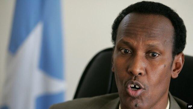 FILE - Former Somali Prime Minister Mohamed Gedi.