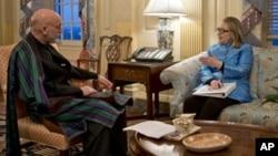 Хамид Карзай и Хиллари Клинтон