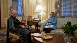 Secretary of State Hillary Rodham Clinton meets with Afghanistan President Hamid Karzai at State Department  Jan. 10, 2013