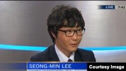 지난 6일 한국에 거주하는 탈북자 이성민 씨가 캐나다C-TV에 출연해 북한의 인권 상황을 증언하고 있다.