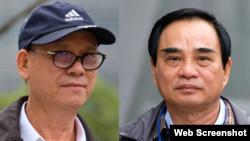 Hai cựu chủ tịch Đà Nẵng Trần Văn Minh (trái) và Văn Hữu Chiến. Photo Tuoi Tre Online.