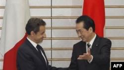Sarkozy Japonya'yı Ziyaret Etti