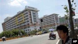资料照:位于中国上海的苹果公司合作商和硕工厂