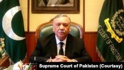 چیف جسٹس آف پاکستان جسٹس آصف سعید کھوسہ۔