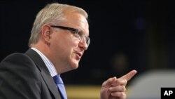 歐盟委員會負責經濟事務的副主席雷恩(資料照片)