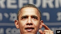 奧巴馬在改革猶太教聯盟會議上演說。