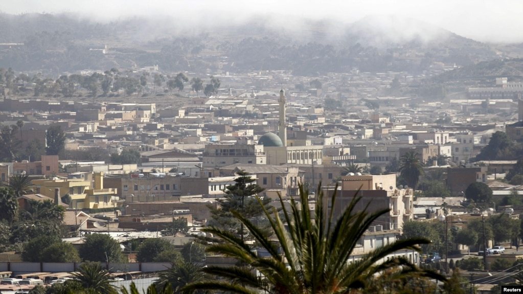 FILE - A general view shows buildings in the central business district of Eritrea's capital Asmara, Feb. 16, 2016.
