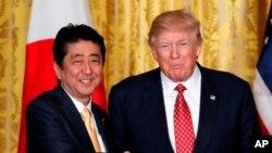 Rais Trump na Waziri Mkuu Abe