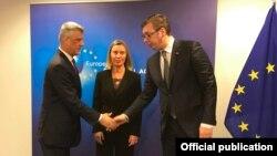 Nga një takim i mëhershëm në kuadër të bisedimeve Kosovë - Serbi më ndërmjetësimin e BE-së