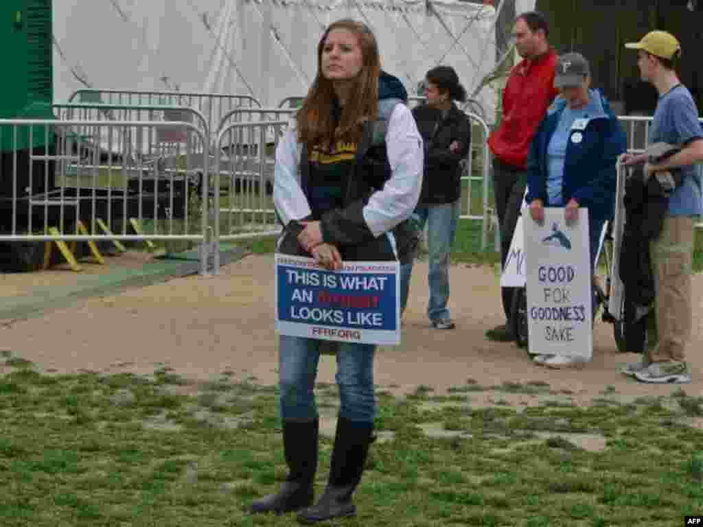 بزرگترین راهپیمایی بی خداهای آمریکا در واشنگتن دی سی