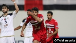 تصویری از مهدی طارمی در مقابل الوحده امارات. او در این دیدار هم برای پرسپولیس گل زد