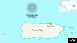 Earthquake in Puerto Rico