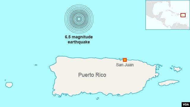 Earthquake in Puerto Rico