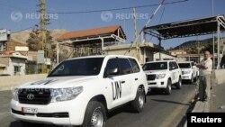 Na pograničnom prelazu izmedju Libana i Sirije.