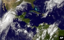 Satellite images are a great help to scientists as they study Earth. This October 2015 image of a storm was released by the National Oceanic and Atmospheric Administration.