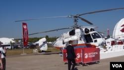 2015年莫斯科航展上展出的卡-32直升机。