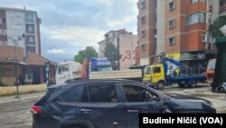 Spaljeni automobil u severnoj Mitrovici