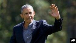 Tổng thống Barack Obama tại Bãi cỏ phía Nam Nhà Trắng, Washington, ngày 7/9/2015.