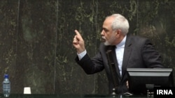 Iran's Foreign Minister Javad Zarif answers lawmakers questions on nuclear talks at the Iran Parliament, Jan. 6, 2015.