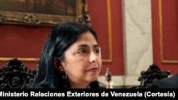 Ngoại trưởng Venezuela Delcy Rodriguez
