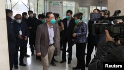 Zhong Nanshan visits the Jinyintan hospital, where the patients with pneumonia caused by the new strain of coronavirus are being treated, in Wuhan, Hubei province, China January 19, 2020. (China Daily via REUTERS)