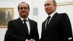 Франсуа Олланд и Владимир Путин. Москва, Россия. 26 ноября 2015 г.