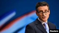Sebastian Coe, chairman of the organizing committee for the London Olympics (file photo)
