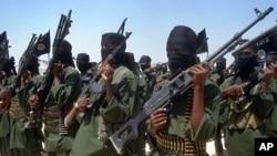 Wanamgambo wa kundi la Alshabab lenye mahusiano na Alqaeda huko Somalia.