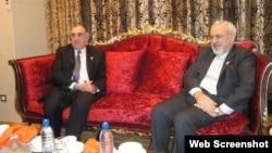 Azərbaycanın xarici işlər naziri Elmar Məmmədyarov İranın xarici işlər naziri Cavad Zərif ilə görüşüb.