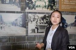 纪念馆宣教部副部长宋美姣(美国之音林森拍摄)