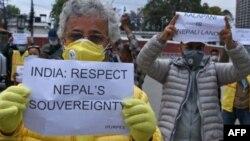 بھارت کی جانب سے متنازع علاقے پر ملکیت کے دعوے کے خلاف نیپال میںں احتجاج