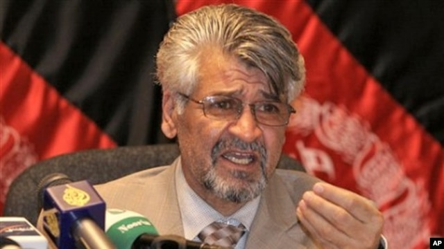 Afghan Defense Ministry spokesman Zahir Azimi (file photo)