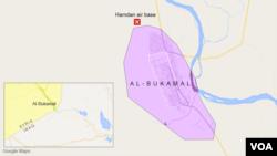 Pangkalan udara militer Hamdan dekat Al-Bukamal, Suriah.