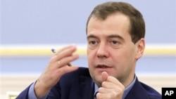 俄羅斯總理梅德韋傑夫(資料照片)