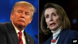 Rais Donald Trump and spika Nancy Pelosi