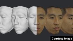 The Bellus3D face scanner uses AI to create a 3D model of your face.