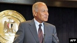 Міністр закордонних справ Єгипту Ахмед Абдул Ґайт виступає у Шарм-ель-Шейху