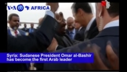 VOA60 Africa - Sudanese President Is First Arab Leader to Visit Syria in 8 Years